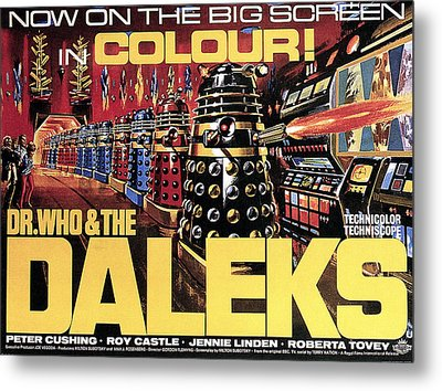 Dr. Who And The Daleks, Poster, 1965 Metal Print by Everett