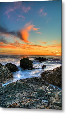Dramatic Sunset Metal Print by Chasethesonphotography