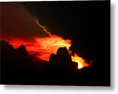 Dramatic Sunset II Metal Print by Emanuel Tanjala