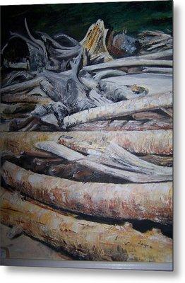 Driftwood Metal Print by Joyce Reid