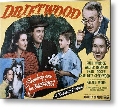 Driftwood, Ruth Warrick, Dean Jagger Metal Print by Everett