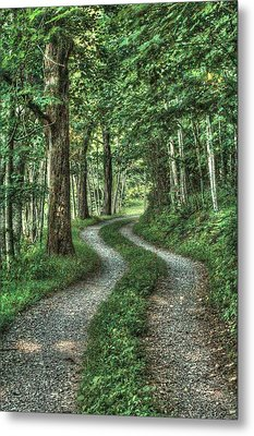 Driveway Out Metal Print by Heavens View Photography