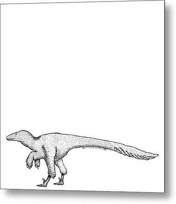 Dromaeosauroides - Dinosaur Metal Print by Karl Addison