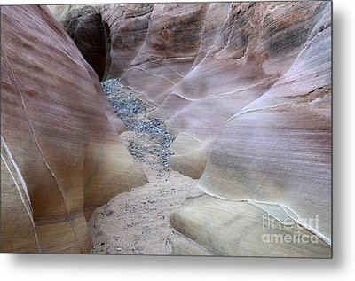 Dry Creek Bed 3 Metal Print by Bob Christopher