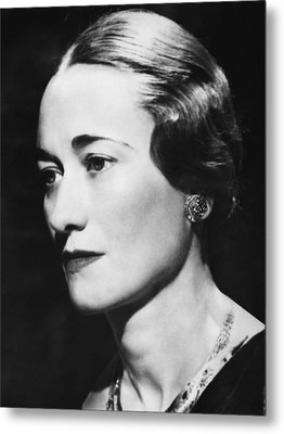 Duchess Of Windsor Wallis Simpson Metal Print by Everett
