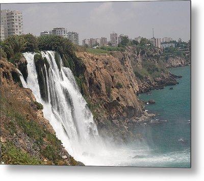 Duden Waterfalls In Turkey Metal Print by
