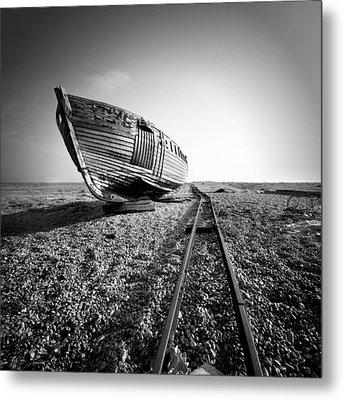 Dungeness Ship Wreck II Metal Print by Nina Papiorek