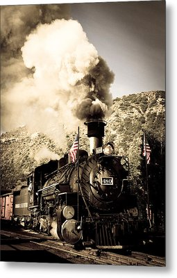 Durango - Silverton Railroad Metal Print by Adam Pender