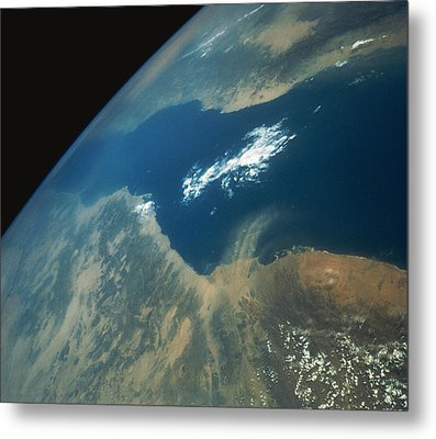 Dust Plume Over The Red Sea Metal Print by Stocktrek