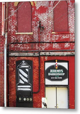 Dwight Barber Shop Metal Print by Todd Sherlock