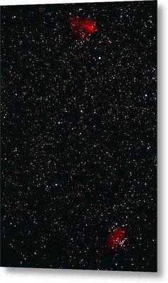 Eagle And Omega Nebulae Metal Print by John Sanford