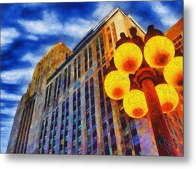Early Evening Lights Metal Print by Jeff Kolker