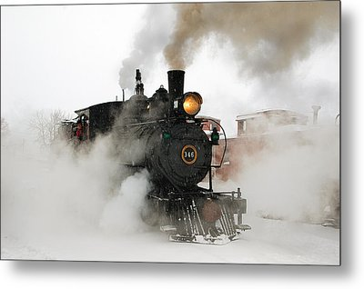 Early Morning Winter Steam Up Metal Print by Ken Smith