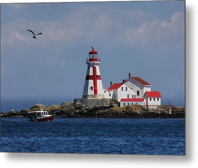 East Quoddy Head Lighthouse Metal Print by Lori Deiter