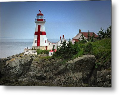 East Quoddy Lighthouse Metal Print by Robert Wicker