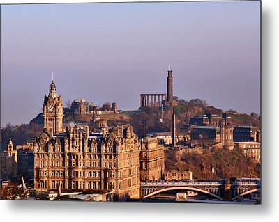 Edinburgh Scotland - A Top-class European City Metal Print by Christine Till