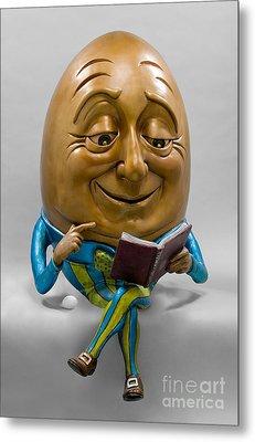 Egghead Metal Print by Kimber Fiebiger