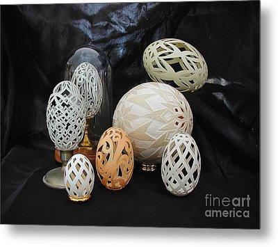 Eggshells 1 Metal Print by Christina A Pacillo