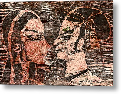 Egyptian Love  Metal Print by Cristina Movileanu