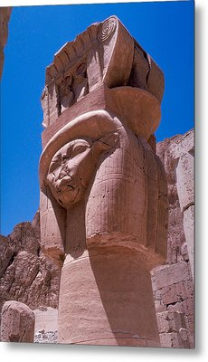 Egyptian Stone Goddess Metal Print by Carl Purcell