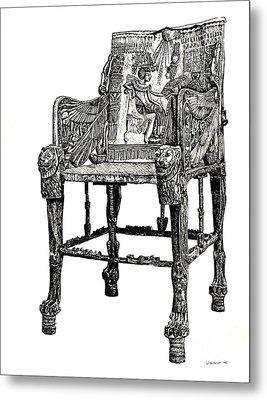 Egyptian Throne Metal Print by Adendorff Design