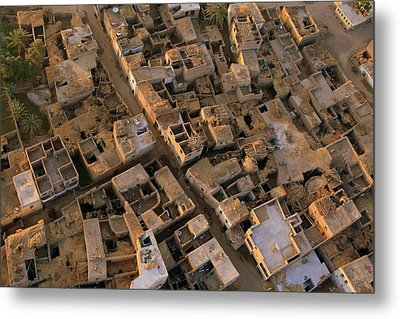 Egyptian Village From The Air Metal Print by Joe & Clair Carnegie / Libyan Soup