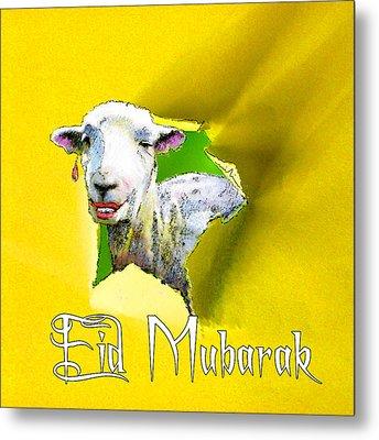 Eid Mubarak Metal Print by Miki De Goodaboom