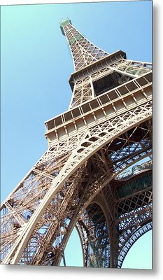 Eiffel Tower From Beneath Metal Print by Photo by Ira Heuvelman-Dobrolyubova