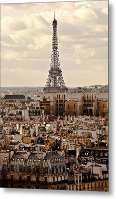 Eiffel Tower Metal Print by Guglielmo William Mangiapane