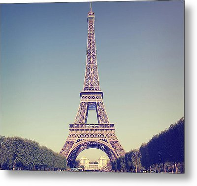 Eiffel Tower Metal Print by Liz Rusby