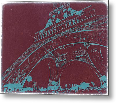 Eiffel Tower Metal Print by Naxart Studio