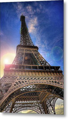 Eiffel Tower Sunset Metal Print by Darkerphoto