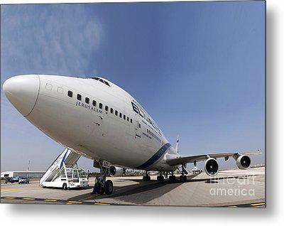 El-al Boeing 747-400 Metal Print by Nir Ben-Yosef