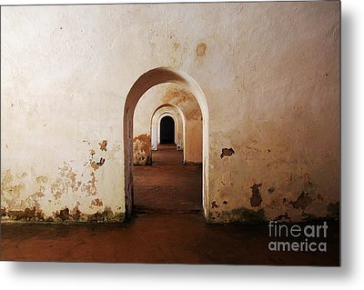 El Morro Fort Barracks Arched Doorways San Juan Puerto Rico Prints Metal Print by Shawn O'Brien