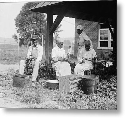Elderly African Americans Who Were Once Metal Print by Everett