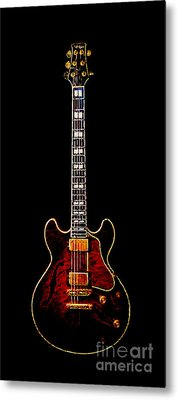 Electric Guitar . Painterly Metal Print by Wingsdomain Art and Photography