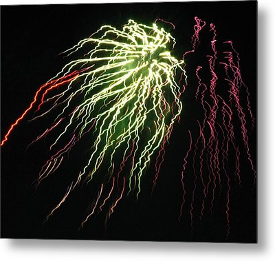 Electric Jellyfish Metal Print by Rhonda Barrett