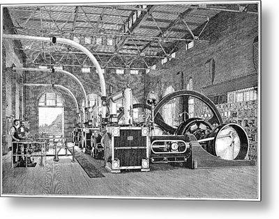 Electric Tramway Generator, 19th Century Metal Print by
