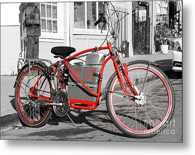 Electric Vehicle . Peddle Power . Infinite Miles To The Gallon . 7d12730 Metal Print by Wingsdomain Art and Photography