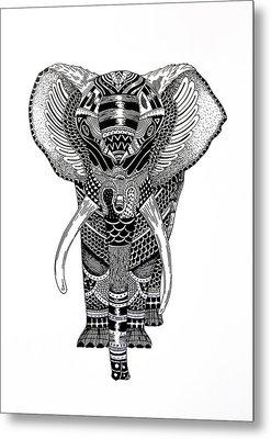 Elephant Metal Print by JF Mondello