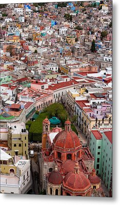 Elevated View Over The City Of Guanajuato In Mexico Metal Print by Mint Images/ Art Wolfe