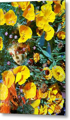 Elfin Child Of Poppies Metal Print by Cyoakha Grace