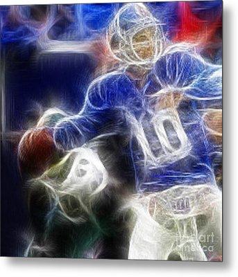 Eli Manning Ny Giants Metal Print by Paul Ward