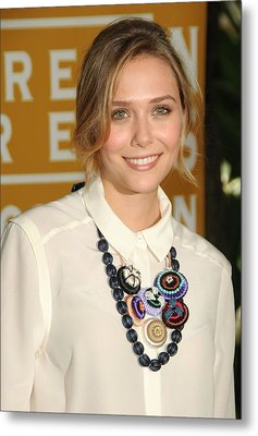 Elizabeth Olsen At Arrivals Metal Print by Everett