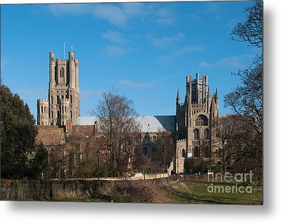 Ely Cathedral In City Of Ely Metal Print by Andrew  Michael