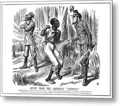 Emancipation Cartoon, 1863 Metal Print by Granger