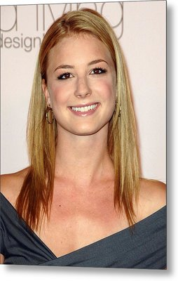Emily Vancamp At Arrivals For 2009 Metal Print by Everett