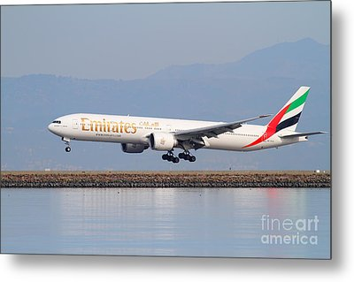 Emirates Airline Jet Airplane At San Francisco International Airport Sfo . 7d12100 Metal Print by Wingsdomain Art and Photography