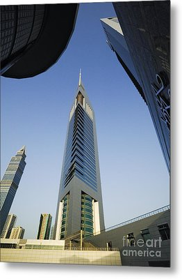 Emirates Tower At Sunrise Metal Print by Jeremy Woodhouse