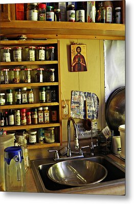 Emmaus House Kitchen Metal Print by Sarah Loft